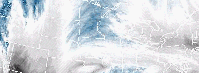 Satellite image of water vapor